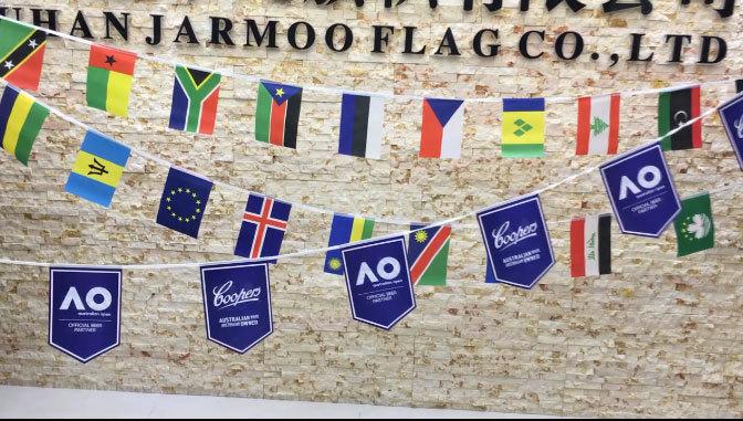 PVC Paper Polyester Bunting Flag Custom Hanging String Pennant