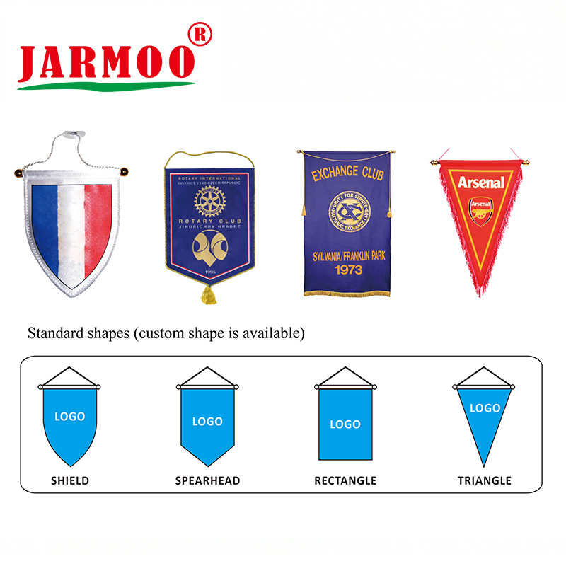 Jarmoo colorful pleated flag with good price on sale-1