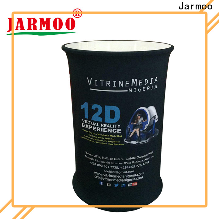 Jarmoo tension fabric wall personalized for marketing