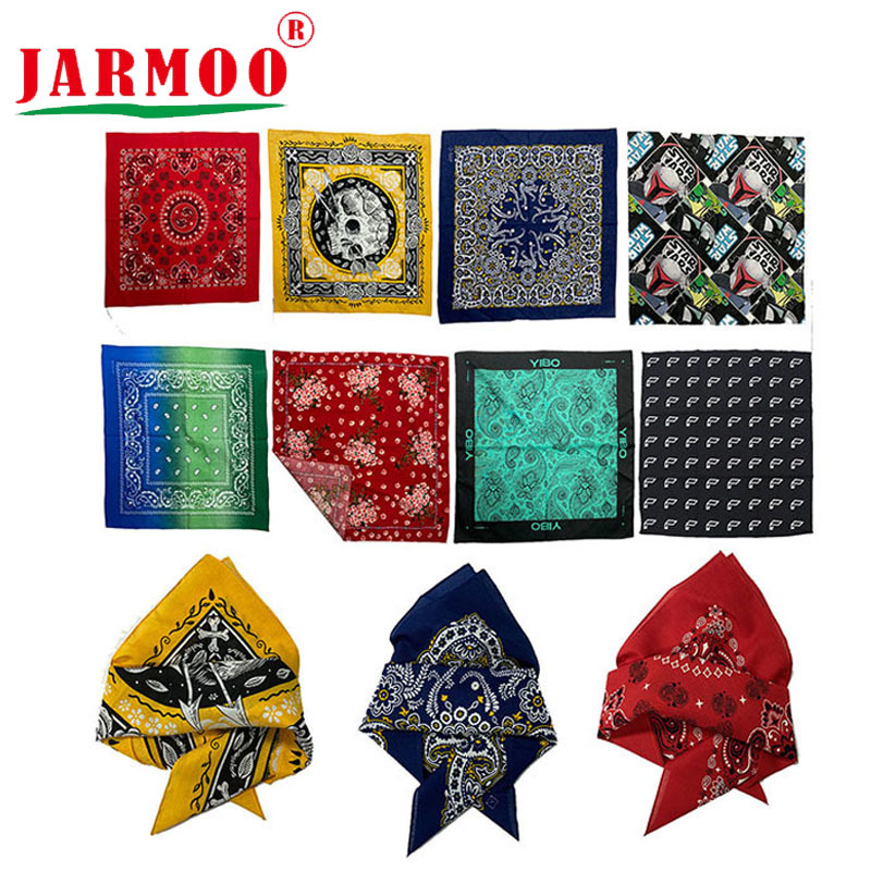 Custom Printing Bandana Low Moq Free Design Bandanas For Men And Woman
