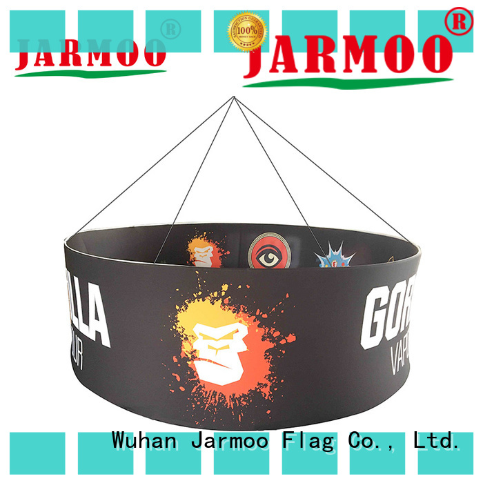 Jarmoo hanging banners from ceiling inquire now for marketing