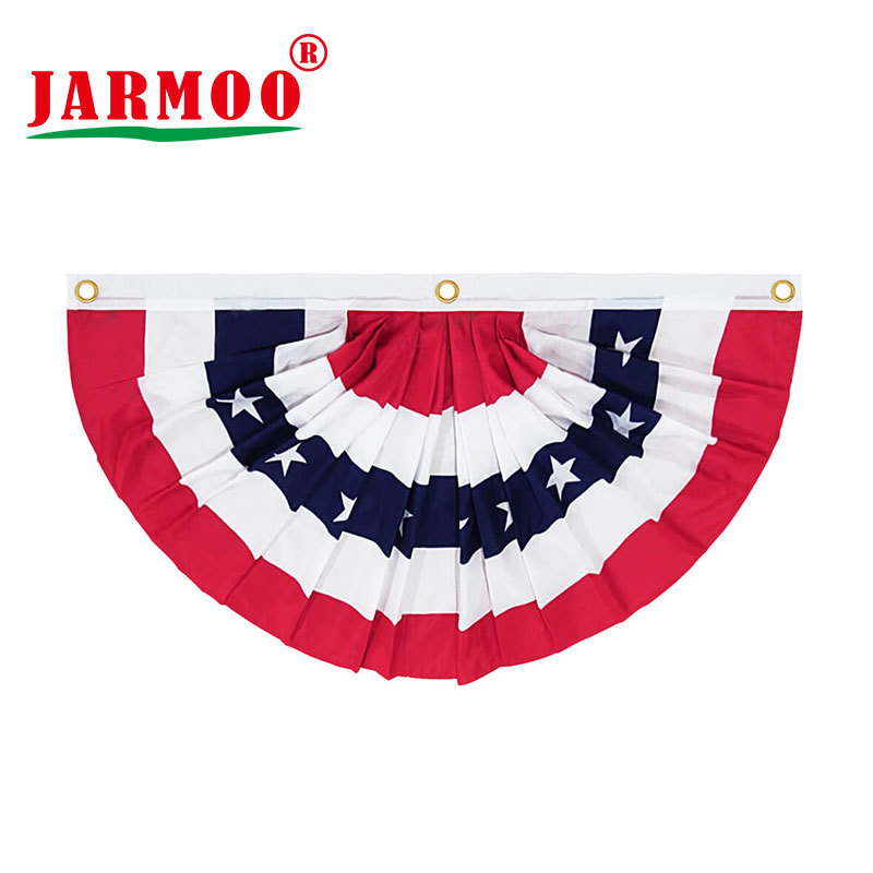 Custom Decorative Pleated Flag