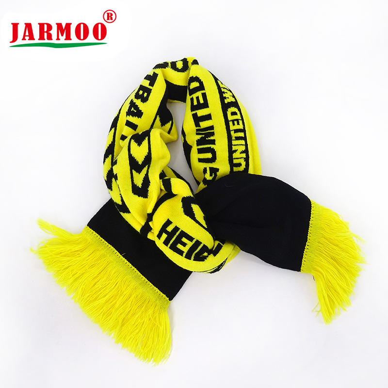 Custom Jacquard Embroidery Winter Acrylic Football Scarf