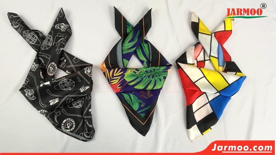 Custom Silk Scarf Bandana Square Satin Headscarf  Handkerchief