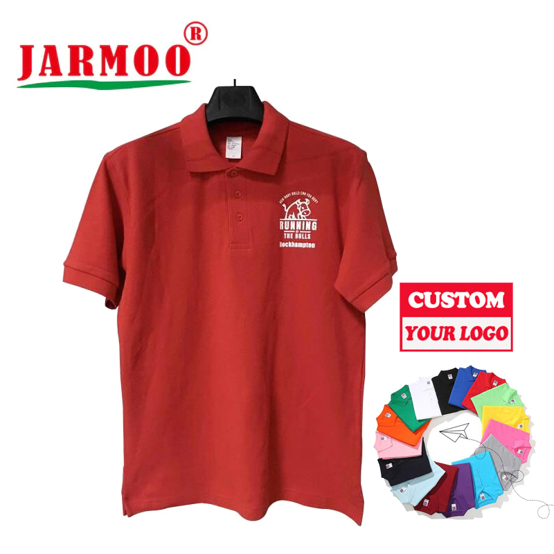 Custom Embroidery 100% Cotton Collar Golf Polo Shirts Business Quick Dry