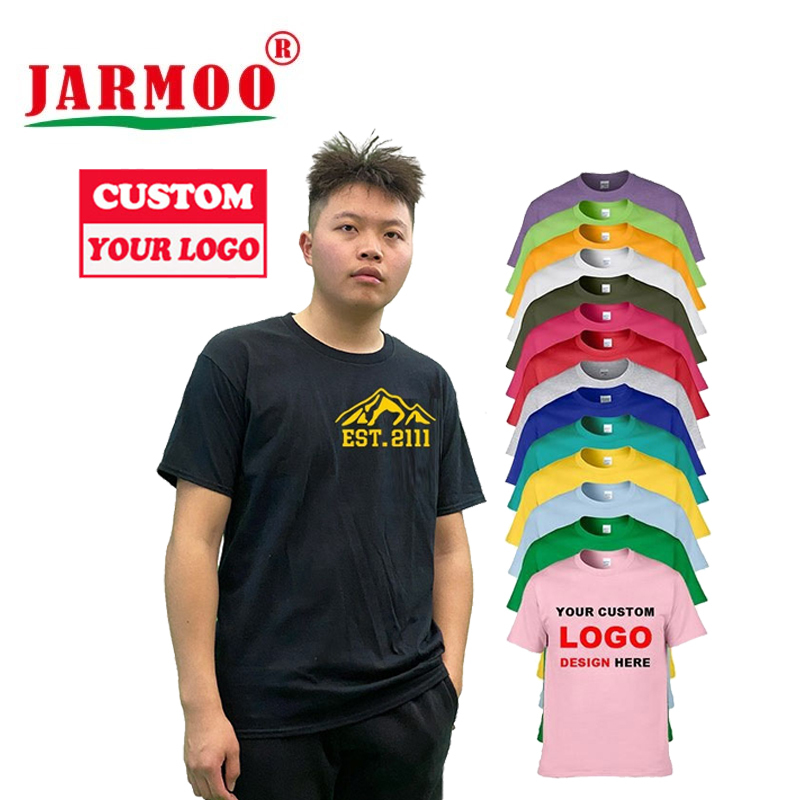 Custom Tee Shirts Printing 100% Cotton T Shirts Print China With Brand Logo