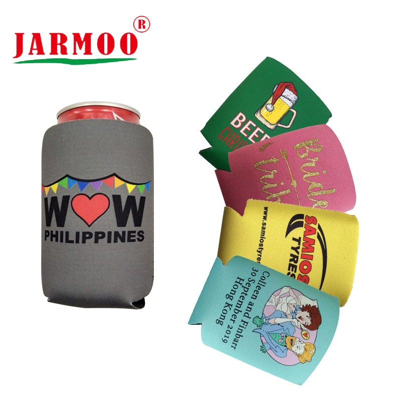 Custom Logo Printed Promotion Gift Customized Foldable Can Coozies Neoprene Stubby Holder