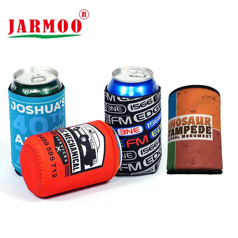 Custom Promotional Neoprene Tube Can Coozies Unfoldable Logo Printed Tube Beer Stubby Holder
