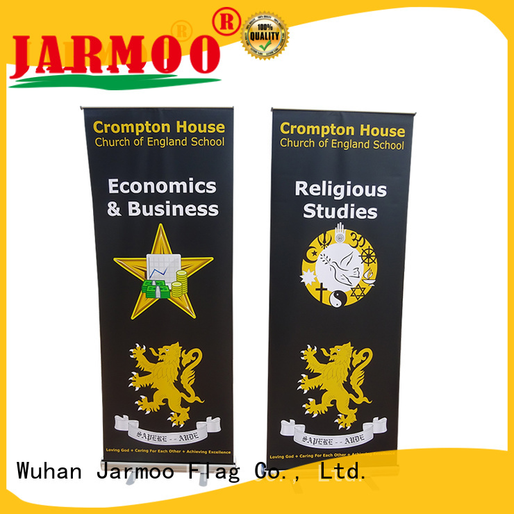 Jarmoo banner roll up from China bulk production